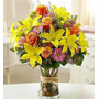 Florero Mediano Lilium Y Rosas/ Flores