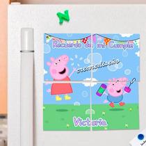 10 Souvenirs Cumple Rompecabezas Imantados Peppa Pig George