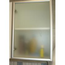 Puerta Vidrio Esmerilado Con Aluminio 100cm X 30 Cm