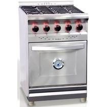 Cocina Industrial Morelli 550 Inox Reja Hierro Enlozado 55cm