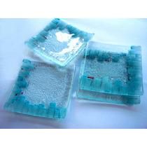 Platos De Vidrio 21 X 21cm, 12x12, 18x18 Y 27x27 Vitrofusión