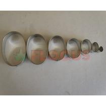 Cortante Molde Set Ovalos X7 Flogus Porcelana Cookie Masas