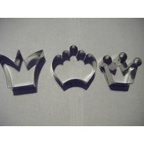 Cortante Molde Set Coronas X3 Galletita Flogus Porcelana