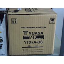 Bateria Yuasa Ytx7abs Para Scooter Suzuki An125 Y Otros