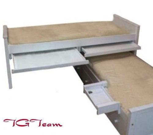 Cama nido laqueada guatamb c escritorios y cajones for Cama nido metalica