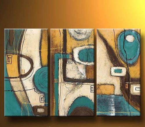 Cuadros abstractos modernos en acrilico texturados - Pinturas acrilicas modernas ...