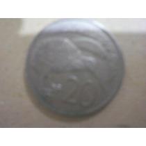 Moneda De 20 Centavos De Nueva Zelanda, Elizabeth Ii, 1980