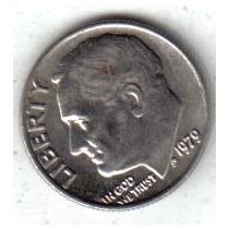 Estados Unidos Moneda 1 Dime Año 1979 !!!!