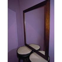 Espejo Con Marco De Madera P/decoración O Baño 60x70