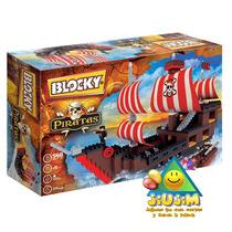 Blocky Barco Pirata 560 Pzas. ¡genial! Mira Todos En Jiujim!