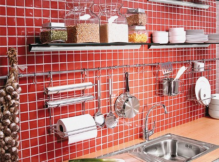 Barrales cromados de 75 cm seca platos accesorios cocina for Accesorios de cocina