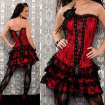 500 -vestido Gotico - Dark - Corset - Strapless Y Muy Sexy!!