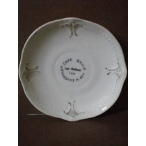 Antiguo Plato De Porcelana Con Publicidad De Cafe Bahia