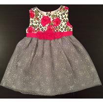 Childrens Place Vestido De Fiesta Con Tul Nena T2 Importado
