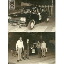 Lote X2 Fiat 1500 Carreras Automovilismo Fotos Antiguas