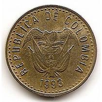 Colombia Moneda De Bronce Niquelado De100 Pesos Año 1993