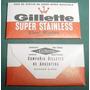Hoja De Afeitar Argentina Gillette Stainless Razor Blades