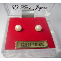 Aritos Abridores Perla/ Oro 18k. Nº 3 El Trust Joyero Gtia