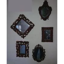 Espejos Con Marco De Resina - Simil Madera