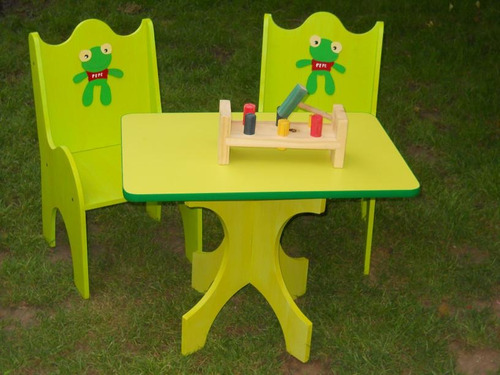 Sapo pepe 2 sillas mesita para ni os re durables juegos de madera a ars 450 en - Juego de mesa y sillas para ninos ...