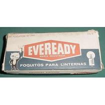 Caja Focos Linterna Eveready 1161 Union Carbide Publicidad