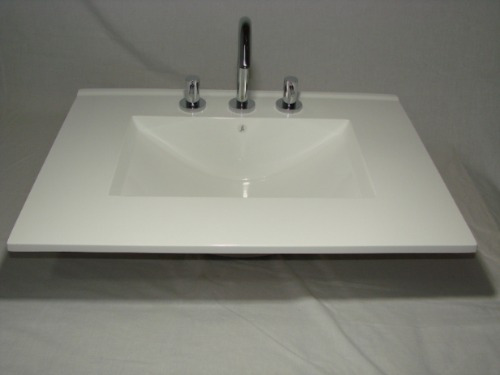 Bachas Para Baño De Colgar:Mesada Bacha Marmol Sintetico Para Baño Vanitorys