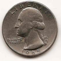 Moneda De Estados Unidos De 25 Cent.cuarter Dolar Año1965(#)