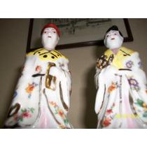 Figuras De Porcelana. Sr. Y Sra. Oriental. Hermosas¡¡¡