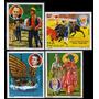 Paraguay, Trajes Tipicos, Yvert N°1584-1587 Usados, 1977