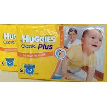 2 Huggies Classic Plus - Todos Los Talles (m,g,xg,xxg)