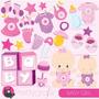 Kit Imprimible Baby Shower Nena 9 Imagenes Clipart