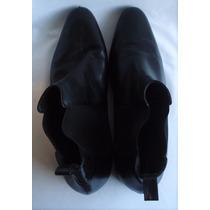 Botas De Vestir Color Negro No Logo Talle 42.5