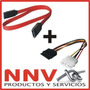 Combo Cable Sata Datos + Cable Sata Power - Serial Ata - Nnv