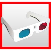 Lentes 3d Anteojos Gafas Tv Rojo Cyan