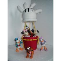Mickey Y Sus Amigos En Globo,en Porcelana Fría