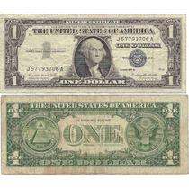 Billete Estados Unidos 1 Dolar Año 1957 Certificado Plata