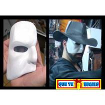 Mascara De Latex Disfraz Del Fantasma De La Opera, Terror