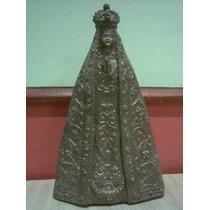 Muñeco Estatuilla Goma Simil Bronce Virgen De Lujan Santeria