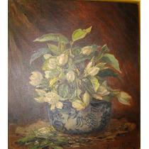 Pintura Europea. Flores. Oleo Richard Hall 1860 - 1942.