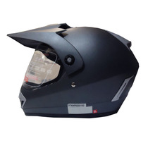 Casco Enduro / Cross Con Visor V-can V370 Gris Motorbikes