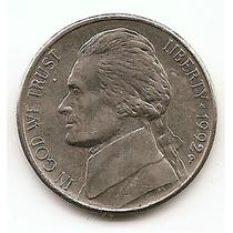 Moneda Estados Unidos De 5 Centavos Five Cents Año1992 P