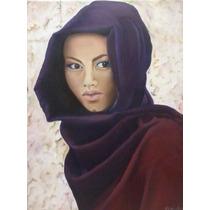 mujer mexicana pintada cuadro: