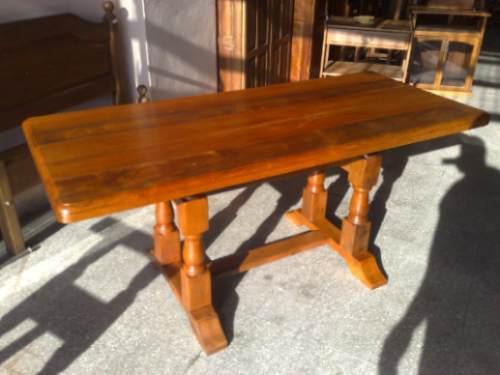 Algarrobo mesa rectangular mts base francesa torneada for Mesa algarrobo precio
