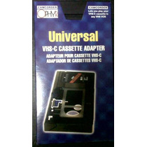 Cassette Adaptador Vhs-c A Vhs Manual Mecanico Sin Pilas