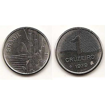 Moneda De Brasil 1 Cruzeiro Del Año 1979 Km#590 Acero Inox