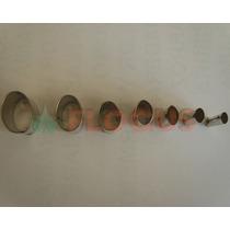 Cortante Molde Set Ovalos Chicos X7 Flogus Porcelana Cookie