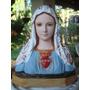 Imagen Religiosa Virgen María Ojos De Vidrio. Arte Sacro.