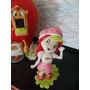 Frutillitas Y Sus Mascotas En Porcelana Fria Para Tu Torta!!