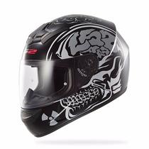 Casco Ls2 Ff352 X-ray Matt Crazy Skull Nuevos!!! Moto Delta