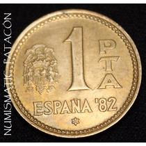 Moneda España 1 Peseta 1980 (82) - Mundial 1982 - Excelente